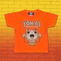 妖怪ウォッチ 親子Tシャツ KIDSサイズ ジバンジャン オレンジ