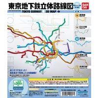 東京地下鉄立体路線図 東京メトロ編(前編)