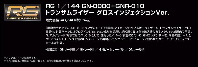 RG 1/144 トランザムライザー グロスインジェクションVer.