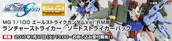 MG 1/100 エールストライクガンダム Ver.RM用 ランチャーストライカー/ソードストライカーパック 【再販】