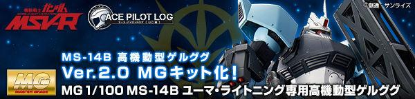MG 1/100 MS-14B ユーマ・ライトニング専用高機動型ゲルググ