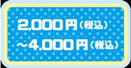 2,000円(税込)〜4,000円(税込)