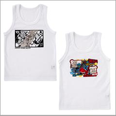 カラチェンインナー袖なしシャツ2枚組