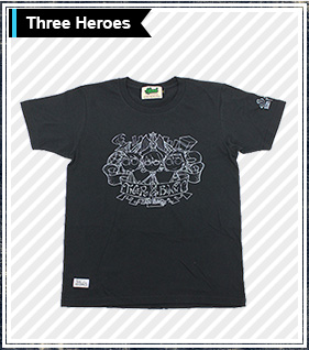 TIGER&BUNNY×HTML 3人Tシャツ Three Heroes S/S Tee