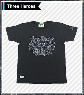 TIGER��BUNNY�~HTML 3�lT�V���c Three Heroes S/S Tee