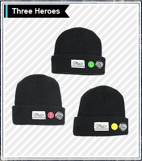 TIGER&BUNNY×HTML ニット帽 Precious Trio Beanie