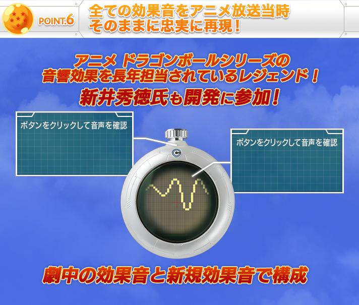 POINT.6 全ての効果音をアニメ放送当時そのままに忠実に再現!