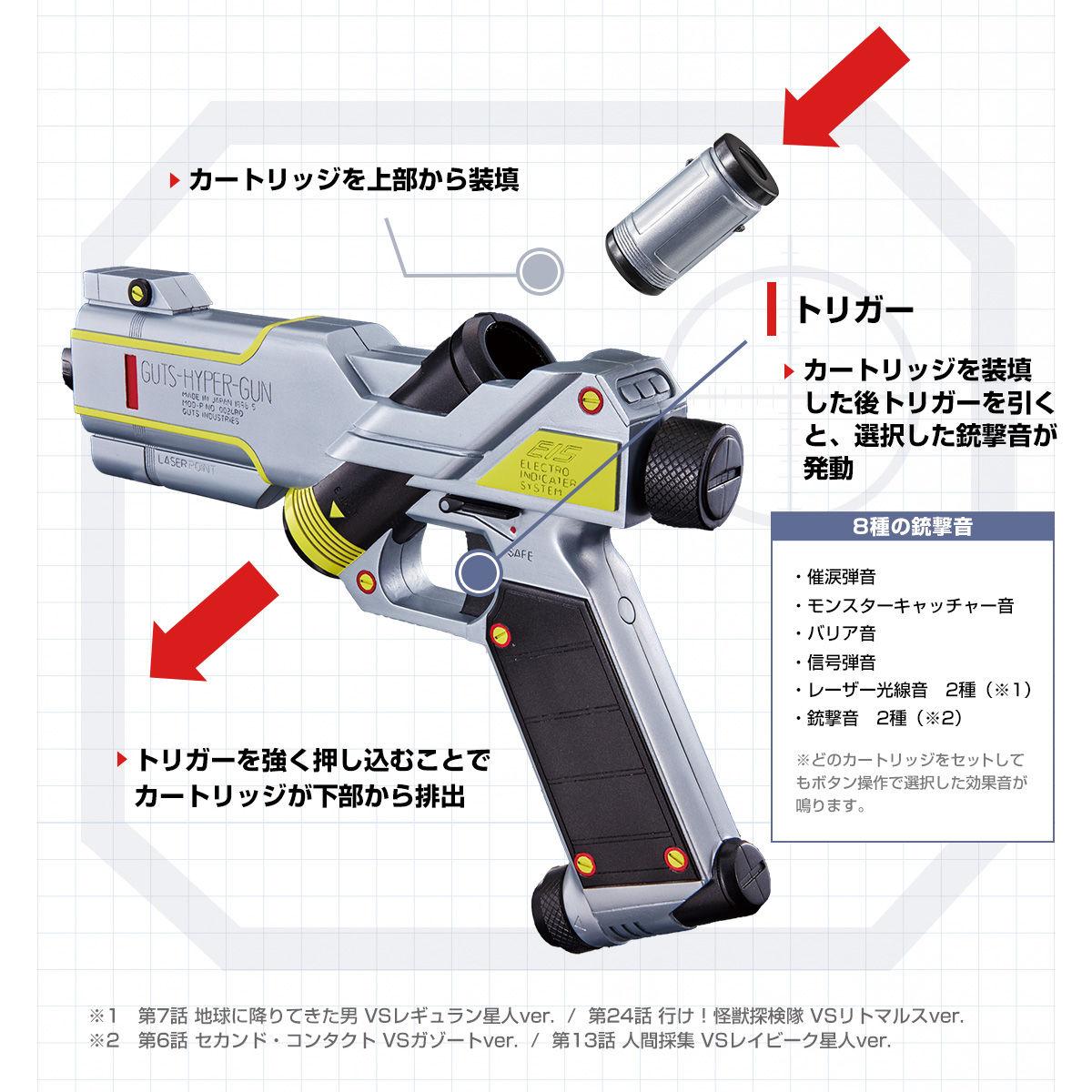 GUTSハイパー トリガー 8つの銃撃音