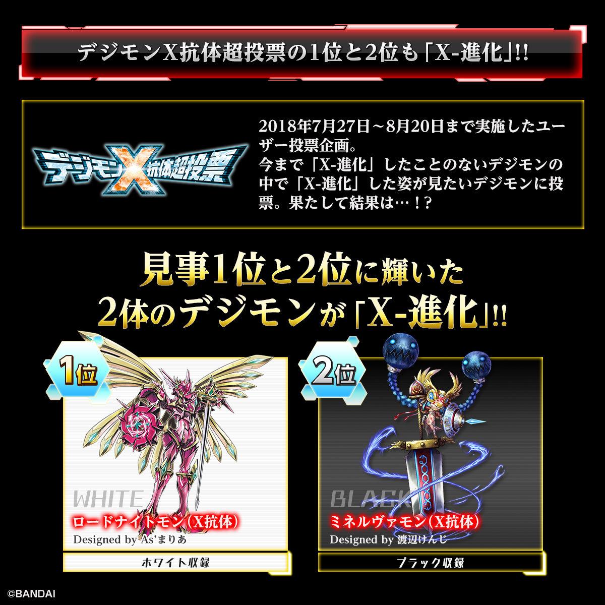 デジモンX抗体超投票の1位と2位も「X-進化」!!