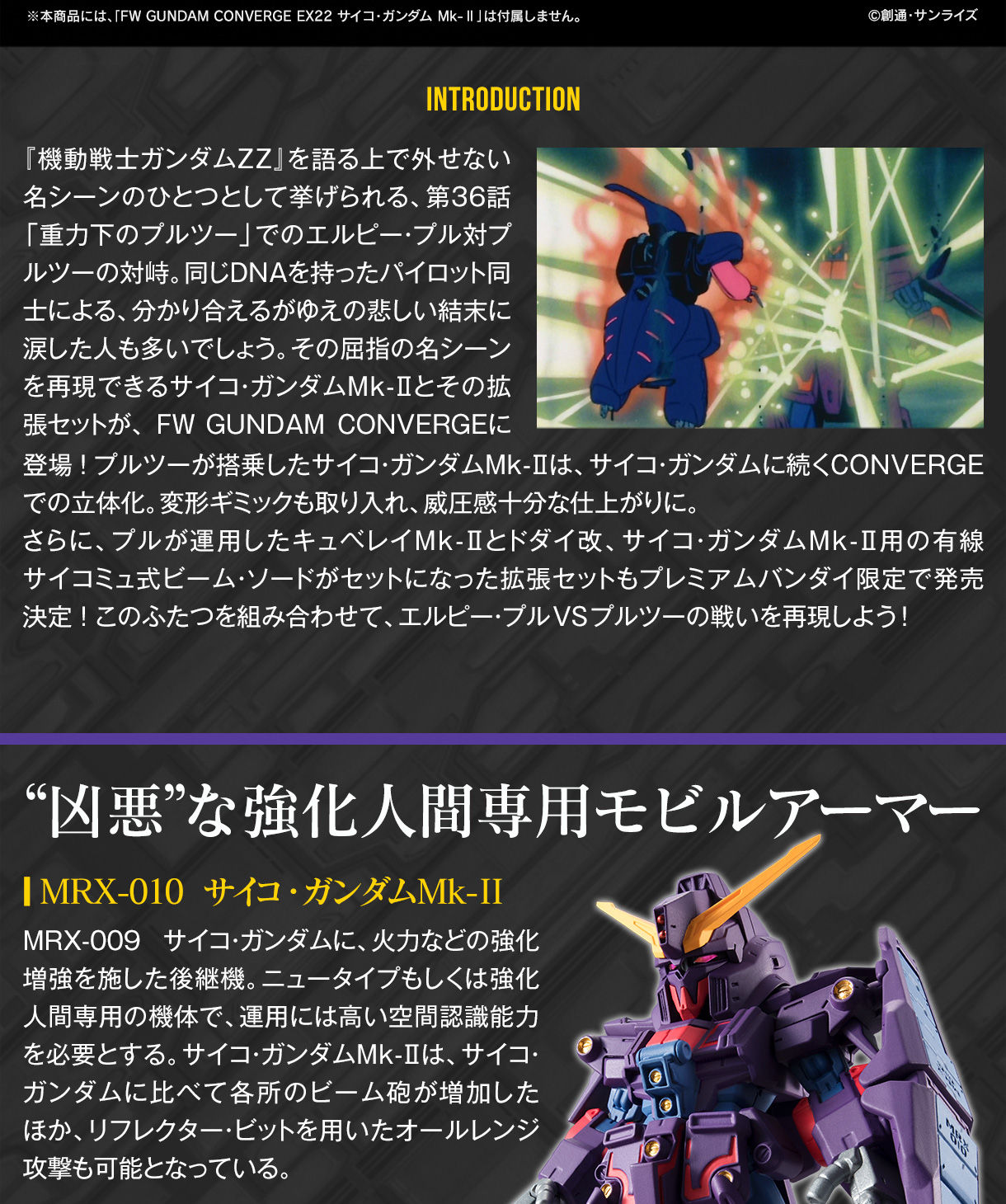 FW GUNDAM CONVERGE:CORE サイコ・ガンダムMk-II オプションパーツセット【プレミアムバンダイ限定】