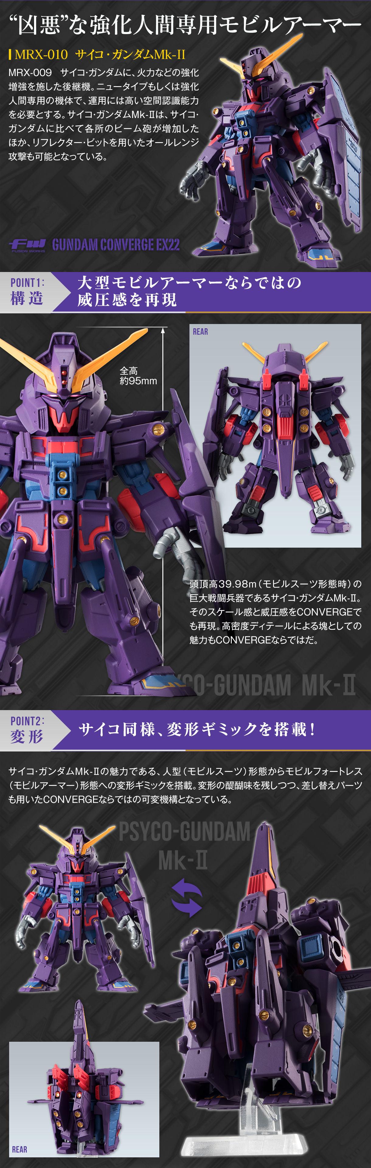 FW GUNDAM CONVERGE EX22 サイコ・ガンダムMk-II
