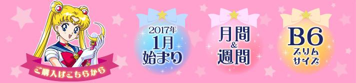 美少女戦士セーラームーン 2017年 メイクアップ手帳(セーラームーン柄)