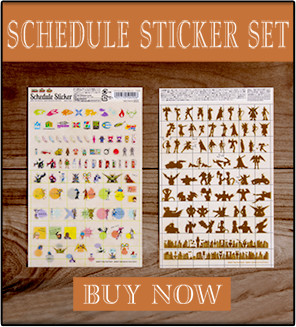 SCHEDULE STICKER SET