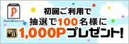 �v���o���|�C���g�o���N 1,000�|�C���g�v���[���g�L�����y�[���I