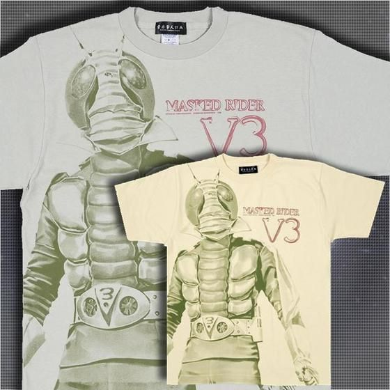 菅原芳人計画 仮面ライダーV3ビッグプリントTシャツ