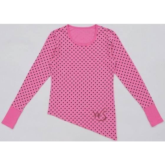 ウインドスケールロングTシャツ ピンク水玉バージョン L