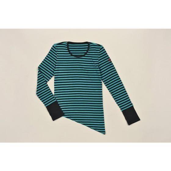 WIND SCALE フィリップ ロングTシャツ(グリーン×ブラックボーダー)