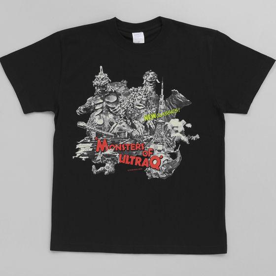 菅原芳人計画 ウルトラQ怪獣混載柄Tシャツ