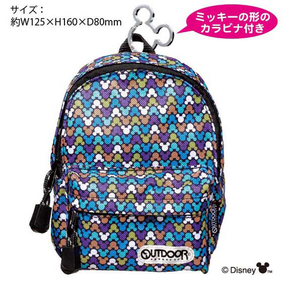 OUTDOOR BACKPACK型ペンケース ディズニー