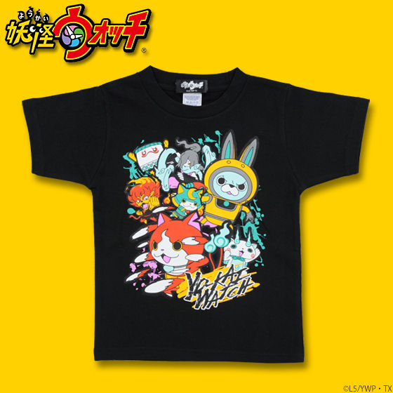 妖怪ウォッチ キャラ集合柄プリントTシャツ 子供サイズ
