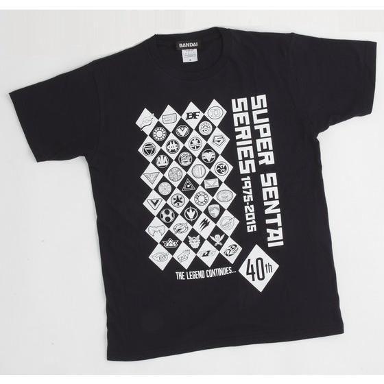 スーパー戦隊シリーズTシャツ 40周年歴代マーク柄