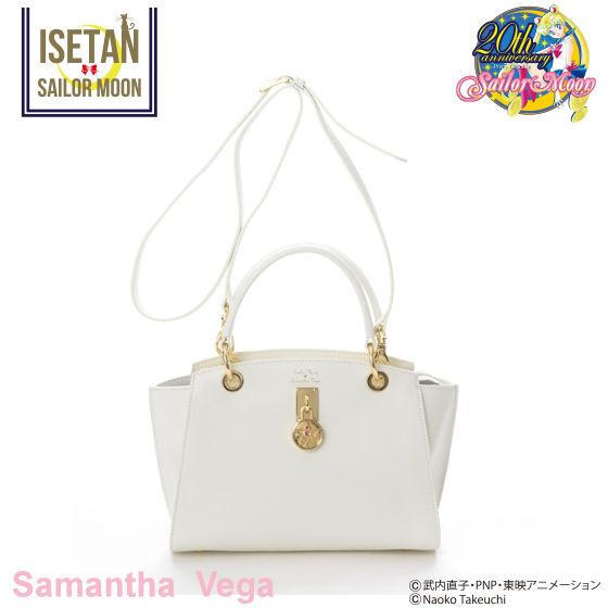 【Samantha Vegaコラボ】美少女戦士セーラームーン クリスタルスターコンパクト レザートートバッグ 小