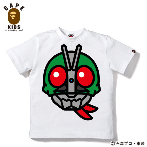 A BATHING APEコラボ 仮面ライダー Tシャツ#1 KIDS