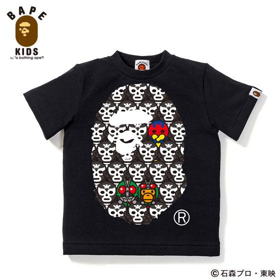 A BATHING APEコラボ 仮面ライダー Tシャツ#3 KIDS