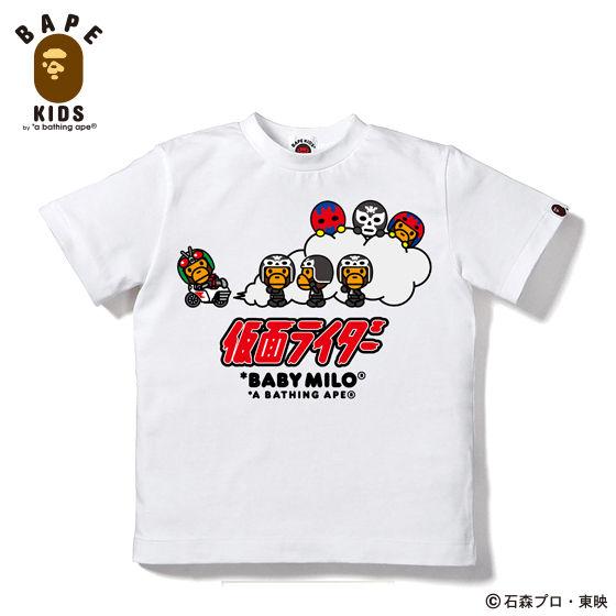 A BATHING APEコラボ 仮面ライダー Tシャツ#5 KIDS