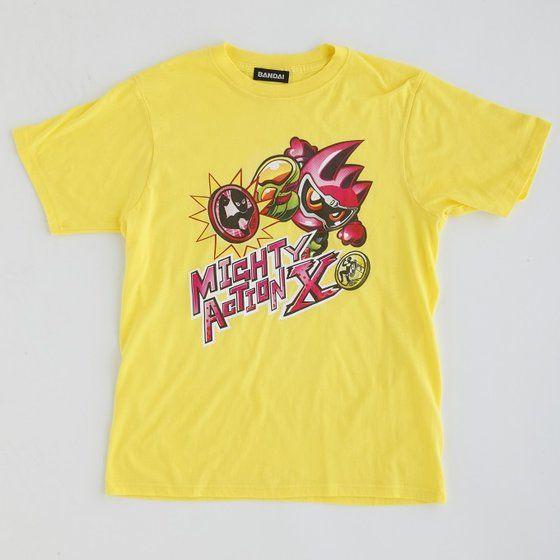 仮面ライダーエグゼイド マイティアクションX Tシャツ(イエロー/ホワイト)