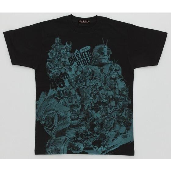 菅原芳人計画 仮面ライダーシリーズ45th エグゼイド&オールライダー柄Tシャツ