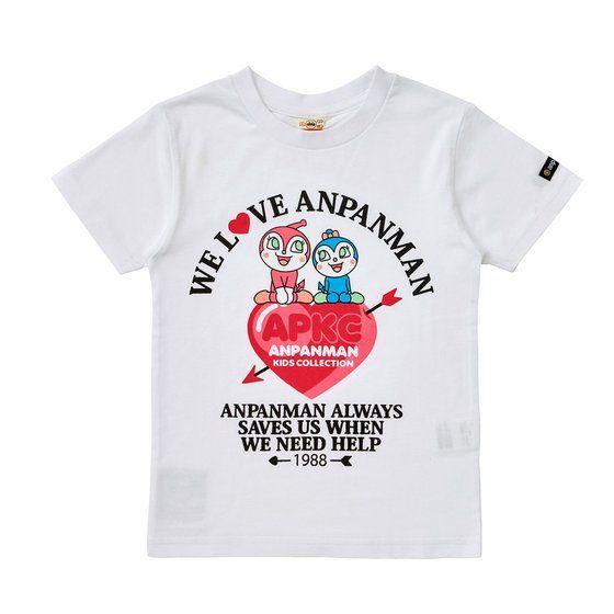 グラフィックTシャツ ドキンコキンハート柄