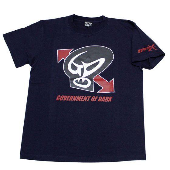 仮面ライダーTシャツ×ノルソルマニア コラボTシャツ 仮面ライダーX GOD機関マーク柄