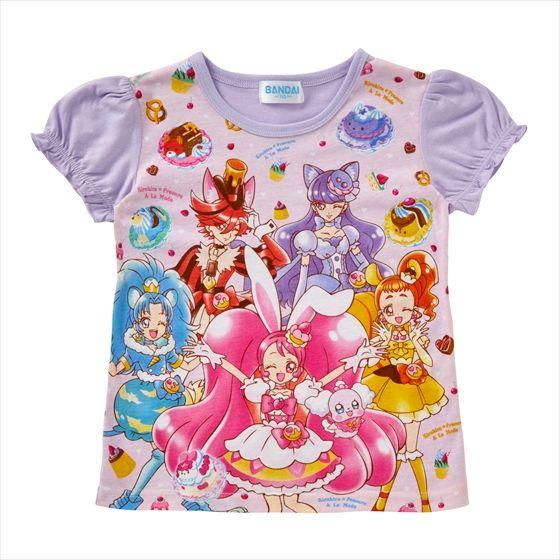 キラキラ☆プリキュアアラモード キリンミルクレープ付Tシャツ