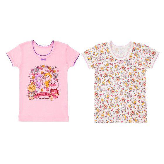 さくらんぼ柄半袖シャツ2枚組