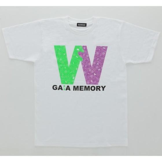 仮面ライダーW  ガイアメモリ柄Tシャツ「W」