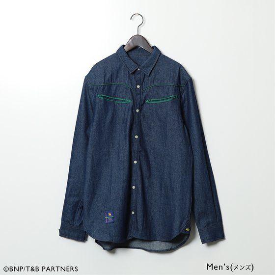 TIGER & BUNNY カラーパイピングデニムシャツ 【SOURCES GRIFFIN】