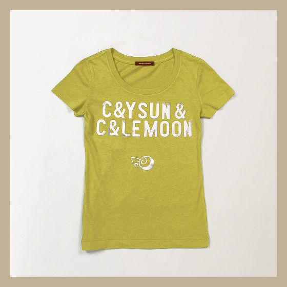 C&YSUN&C&LEMOON  LOGO TEES_CANDY LINES 001Tシャツ(ロゴ)