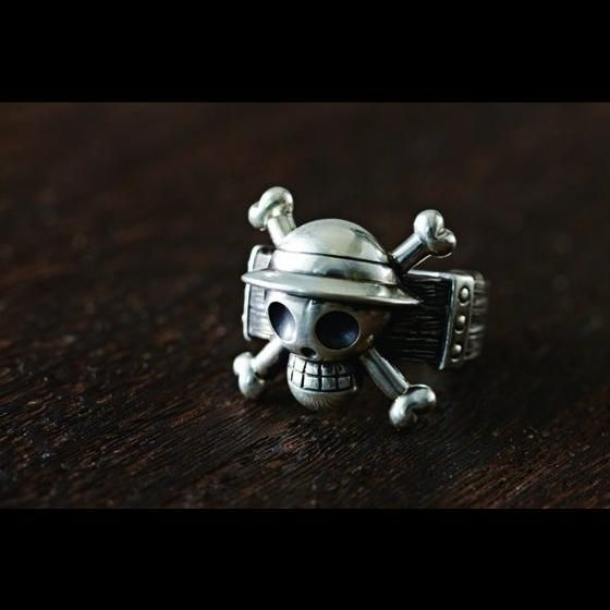 Silverware collection ring 01 : Jolly Roger 麦わらの一味 Mサイズ(16号)