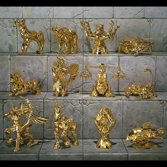 聖闘士聖衣神話APPENDIX 黄金聖衣オブジェセット
