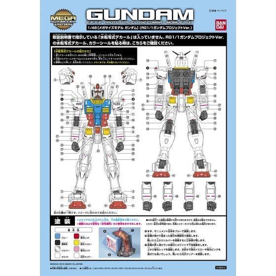 1/48 メガサイズモデル ガンダム RG1/1ガンダムプロジェクトVer.