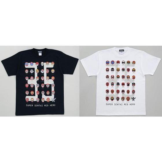 スーパー戦隊35th 歴代レッドフェイスTシャツ