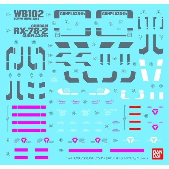 1/48メガサイズ ガンダム RG1/1プロジェクトVer.(2月お届け分)