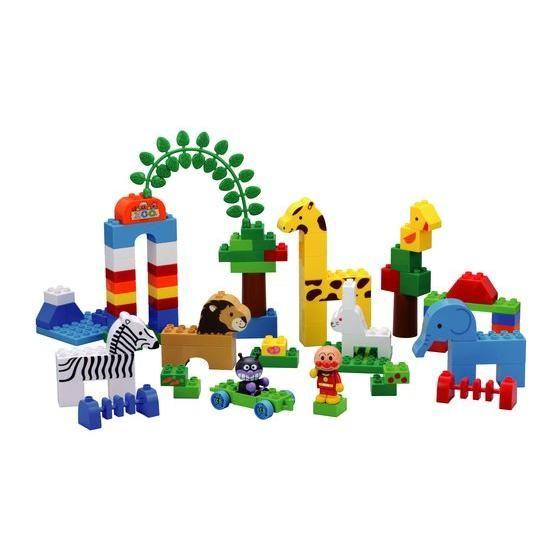 ごっこ遊びに適したブロックドールや様々な形のブロック中心に構成。組み遊びが楽しい!