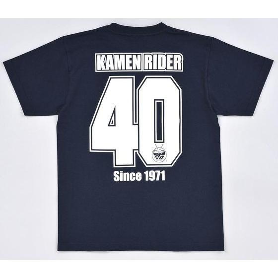 仮面ライダー40th オールライダーデフォルメ柄 Tシャツ(杢グレー/ネイビー)