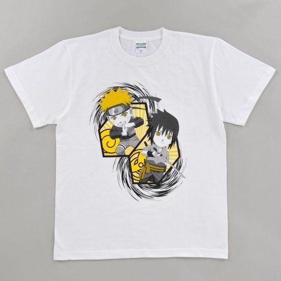 NARUTO-ナルト-疾風伝 Tシャツ ナルト・サスケデフォルメ柄