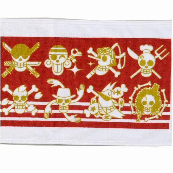 ワンピース マフラータオル 海賊旗柄