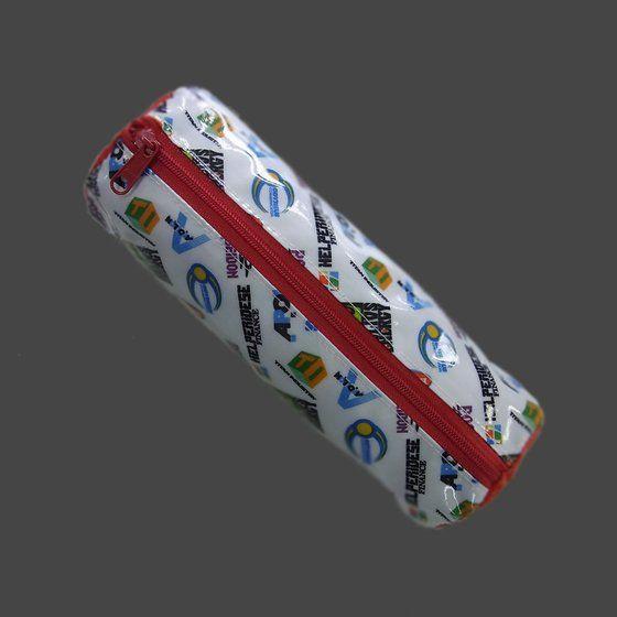 TIGER&BUNNY 作中企業ロゴ総柄円筒型ポーチ