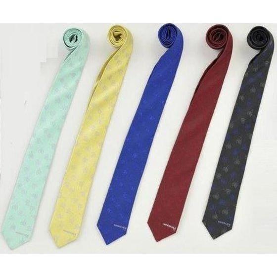 WIND SCALE ネクタイ WS総柄柄 群青、レッド、ブラック、エメラルドグリーン、イエロー