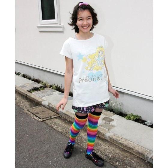ハートキャッチプリキュア!レディースTシャツ キュアマリン(大人用)
